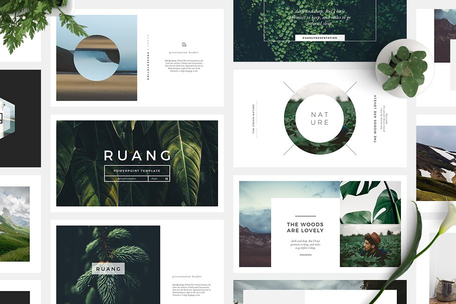 Ruang PowerPoint Template ~ PowerPoint Templates ~ Creative