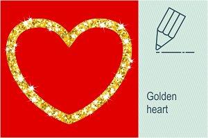 Golden heart frame