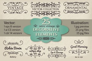 Decorative vintage elements