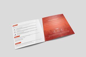 Corporate Square Bi-Fold Brochure