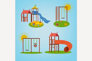 Children Playground vector