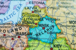 Belarus country map .
