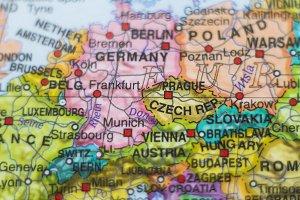 Czech Republic country map .