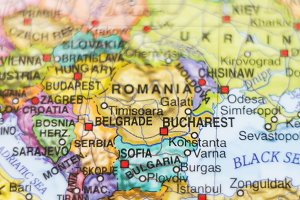 Romania country map .