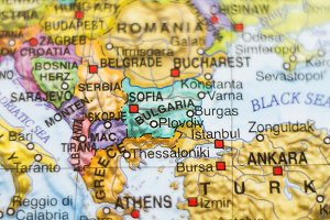 Bulgaria country map .