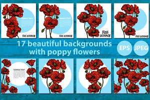Poppies banners set
