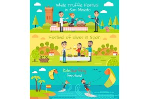 Spain Entertainment Festivals Holidays. Vector