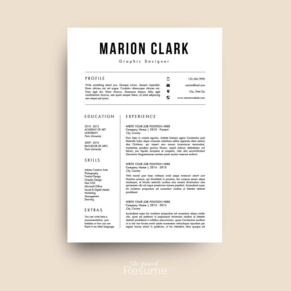 Simple Resume Template Word: Simple Resume Template (MS Word)