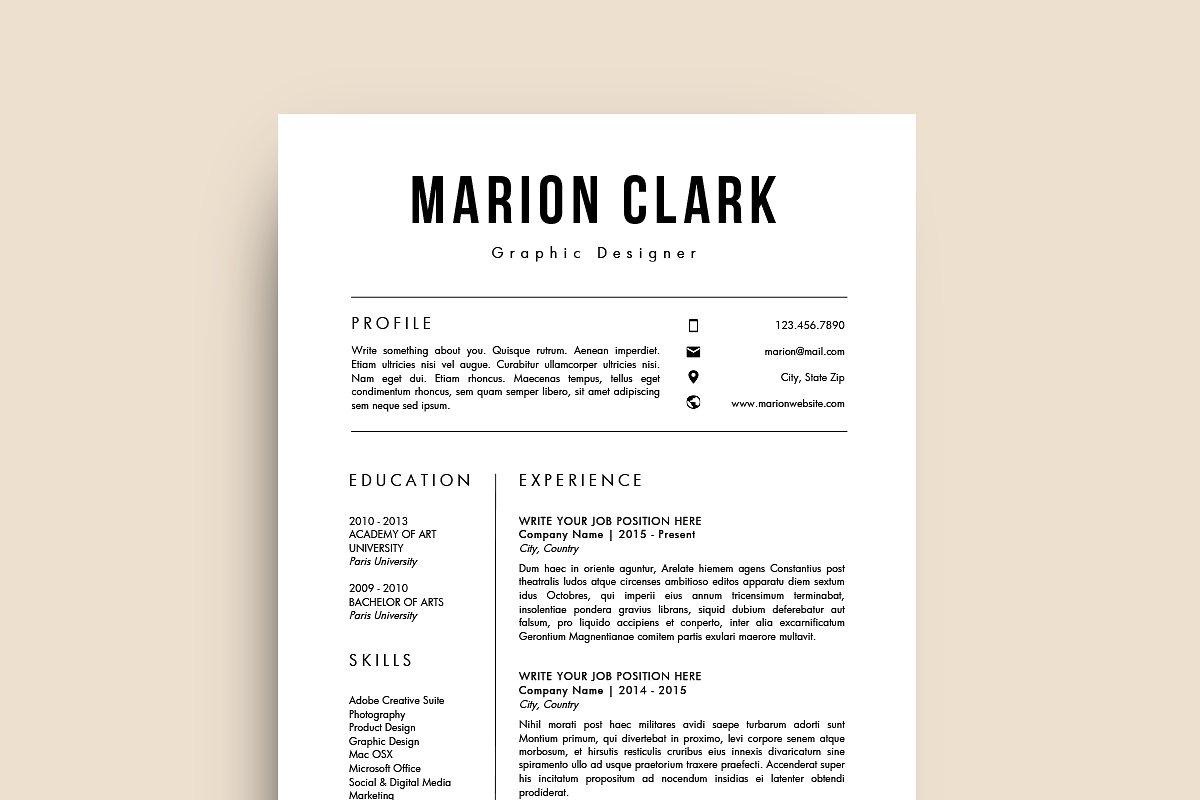 Simple Resume Template (MS Word)