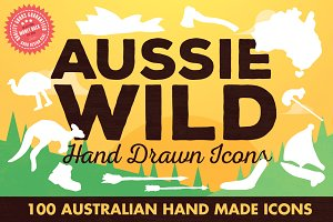 Aussie Wild Hand Drawn Icons