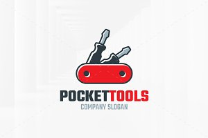 Pocket Tools Logo Template