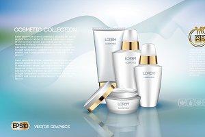 Vector care cream cosmetics mockup