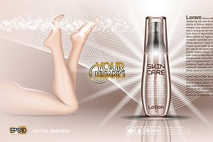 Vector skin care cosmetics mockup