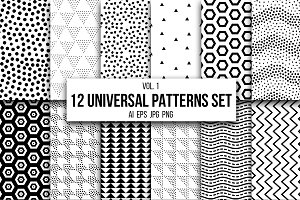 12 Universal patterns set