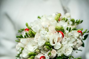 Bouquet held by a bride