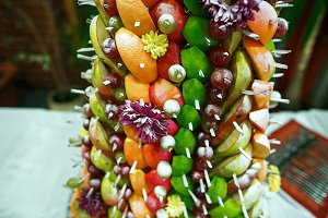Exotic fruits and berries