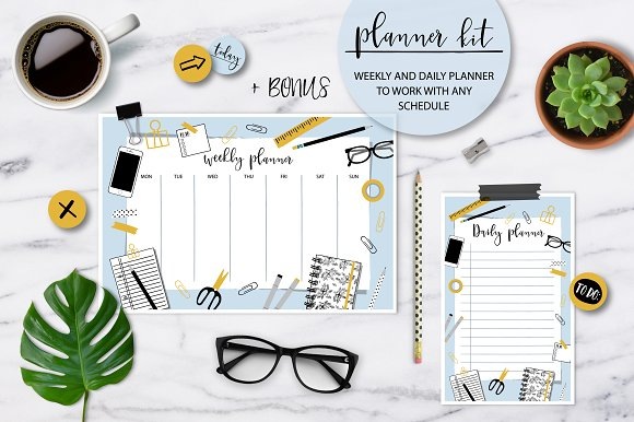 Planner kit - weekly & daily planner