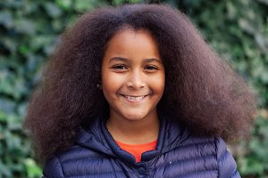 Beautiful child with afro hair