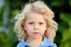 Beautiful blond kid