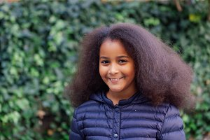 Pretty child with afro hair