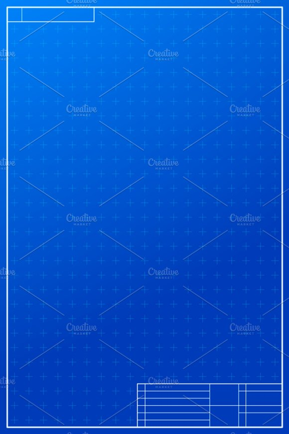 Layout template in blueprint style