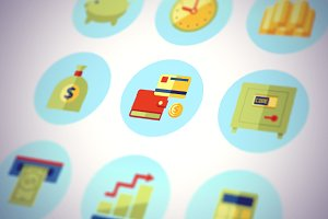 Money Icons Flat Set