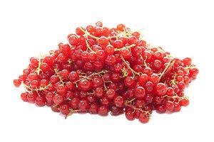 Pile of raspberries currants