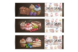 Cupcakes, cakes pastries desserts poster