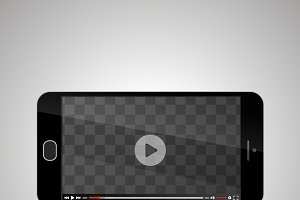 Mock up of smartphone with video