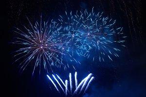 Blue fireworks