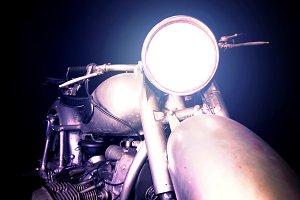 Old vintage motorcycle.