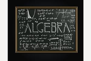 Algebra Blackboard Image