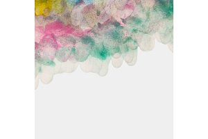 Colorful Watercolor Textured Background from Brush Strokes