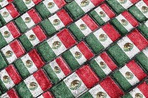 Mexican Flag Urban Grunge Pattern