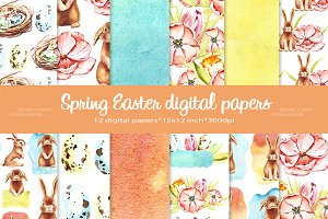 Bunny Easter Spring pattern