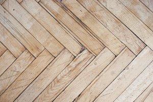 Rustic distressed wooden floor