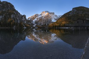Morning on Lake Braies Web