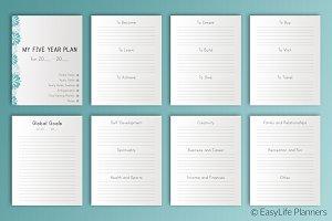 Five YEAR Plan 7x9 Printable
