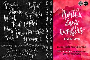 Months & Days of the Week Overlays