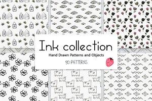 Big Pack Ink Seamless Patterns