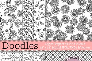 Doodle Papers/Seamless Backgrounds