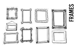 Doodle Picture Frame Illustrations