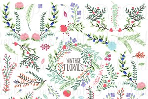 Vintage Floral Clipart and Vectors