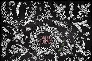 Chalkboard Vintage Florals