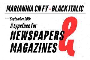 Marianina Cn FY Black Italic