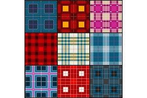 Plaid tartan, british, buffalo seamless vector fabric pattern