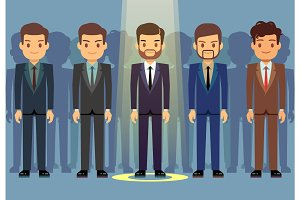 Employees job candidate selection, business recruitment vector concept