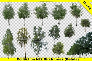 Landscape designer cut out tree set
