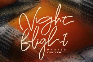 Night Flight Marker Font Family