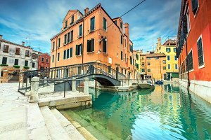 Venetian buildings and bridges